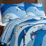 Shark All Over Quilt Set