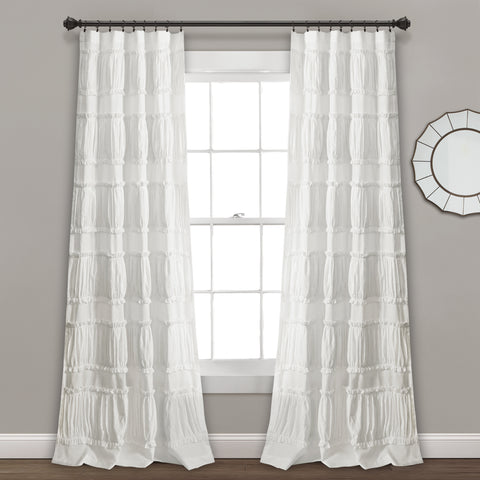 Nova Ruffle Window Curtain Panel Set