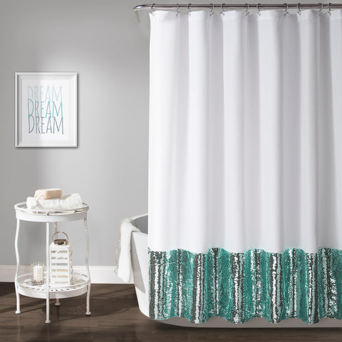 Lush Decor Weeping Flower Shower Curtain 72 X Yellow Gray Triangle