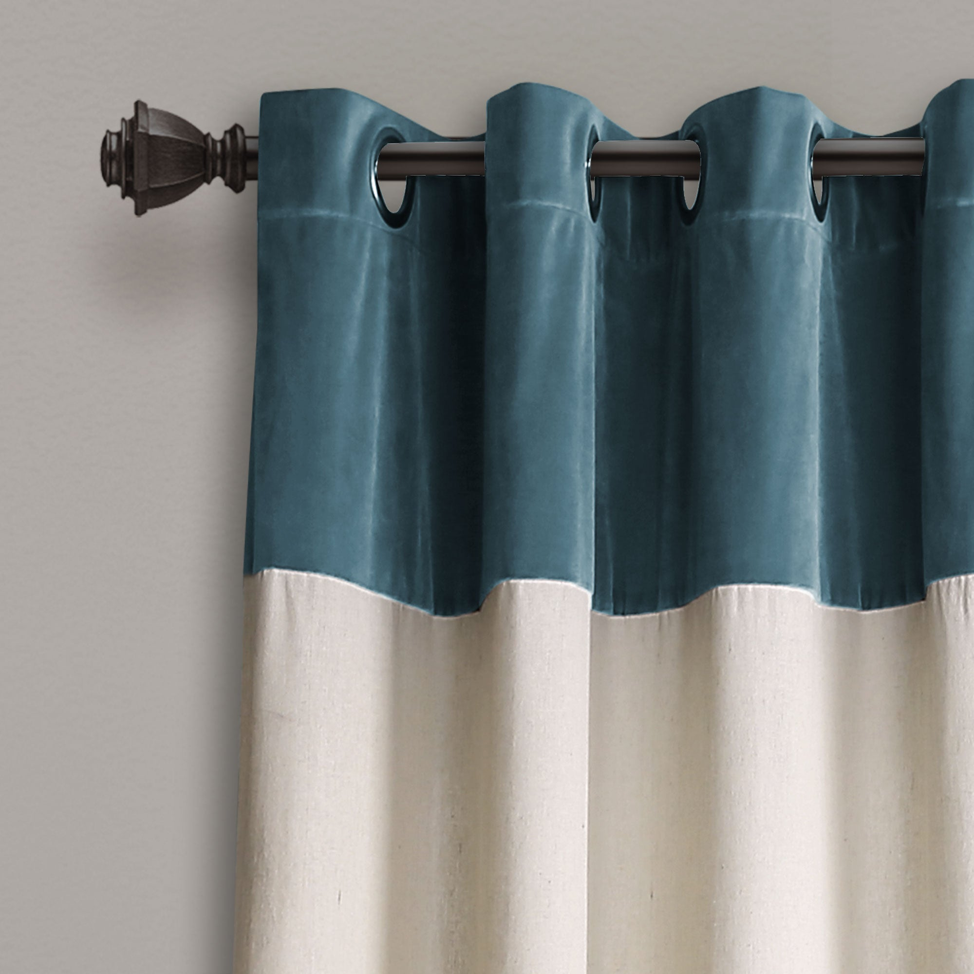 Milo Linen Window Curtain Panel Set