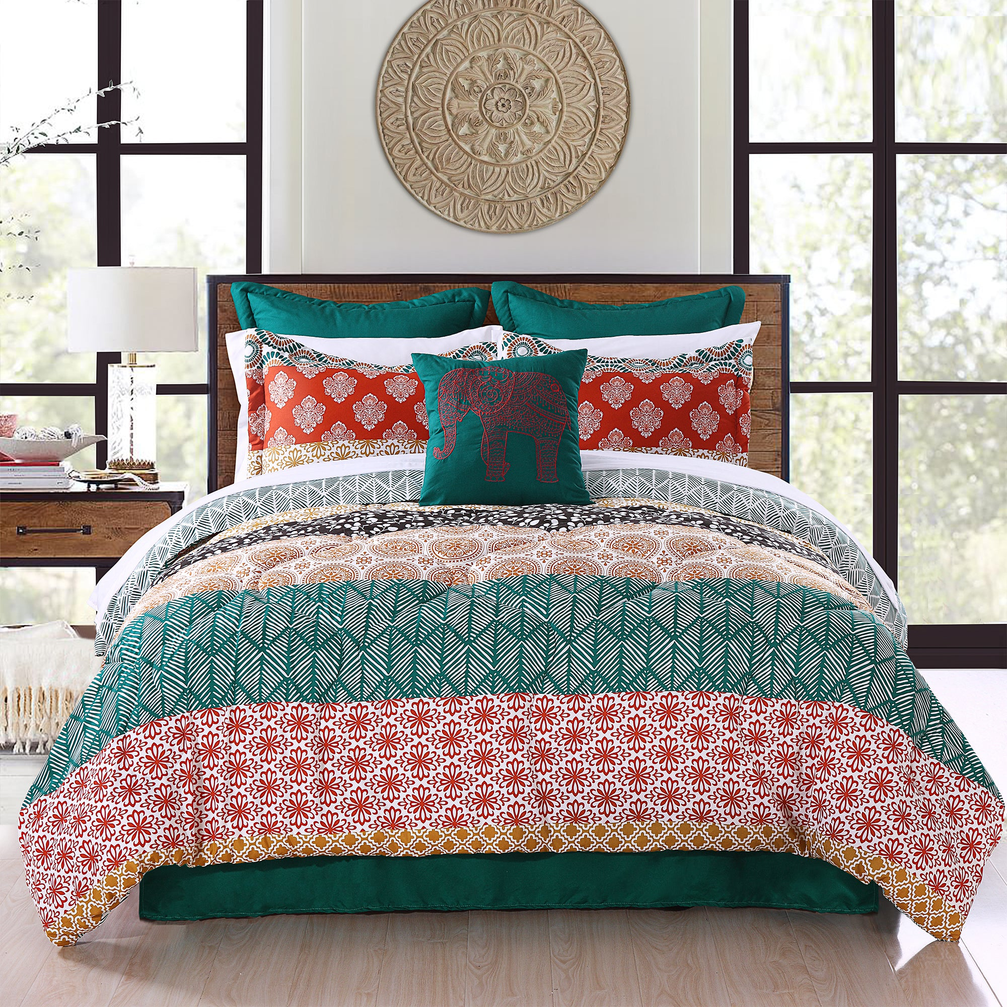 Bohemian Stripe 7 Piece Comforter Set Lush Decor Www Lushdecor Com Lushdecor