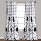 Stripe Bear Room Darkening Window Curtain Set