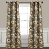 Delsey Floral Absolute Blackout Window Curtain Set