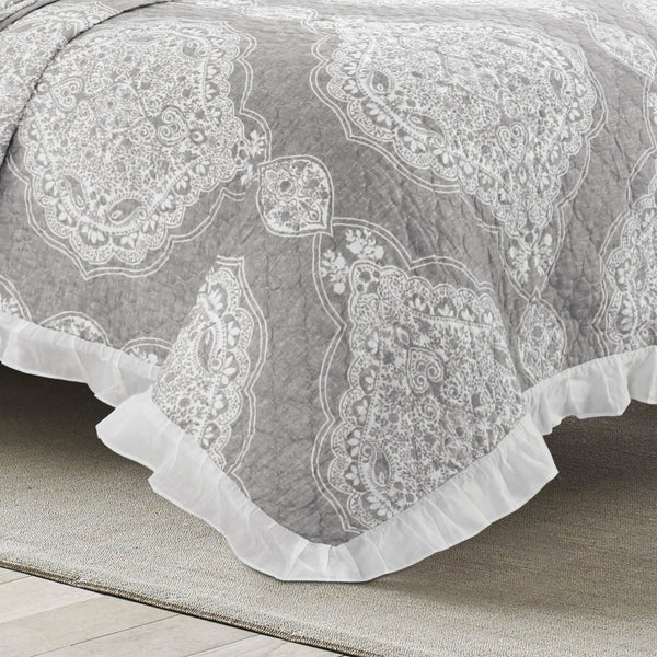 Lucianna Ruffle Edge Cotton Bedspread Set