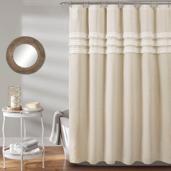 Ciel Tassel Shower Curtain