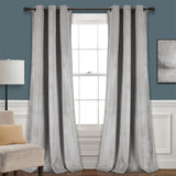 Prima Velvet Solid Room Darkening Window Curtain Panel Set