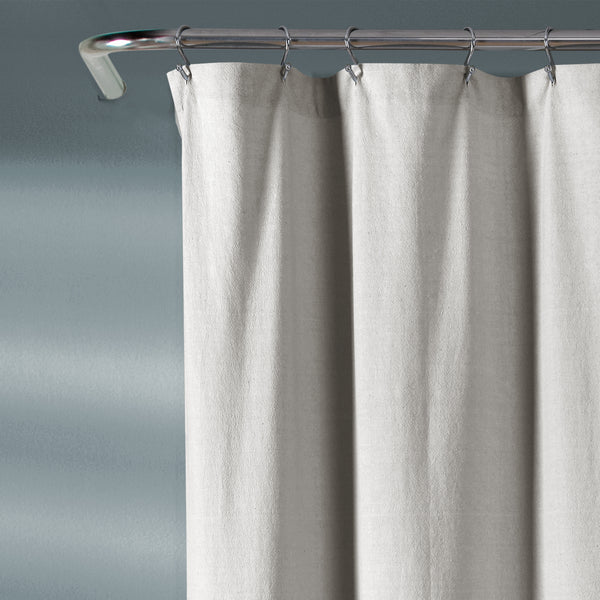 Chenille Chevron Shower Curtain