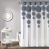 Stripe Medallion Shower Curtain