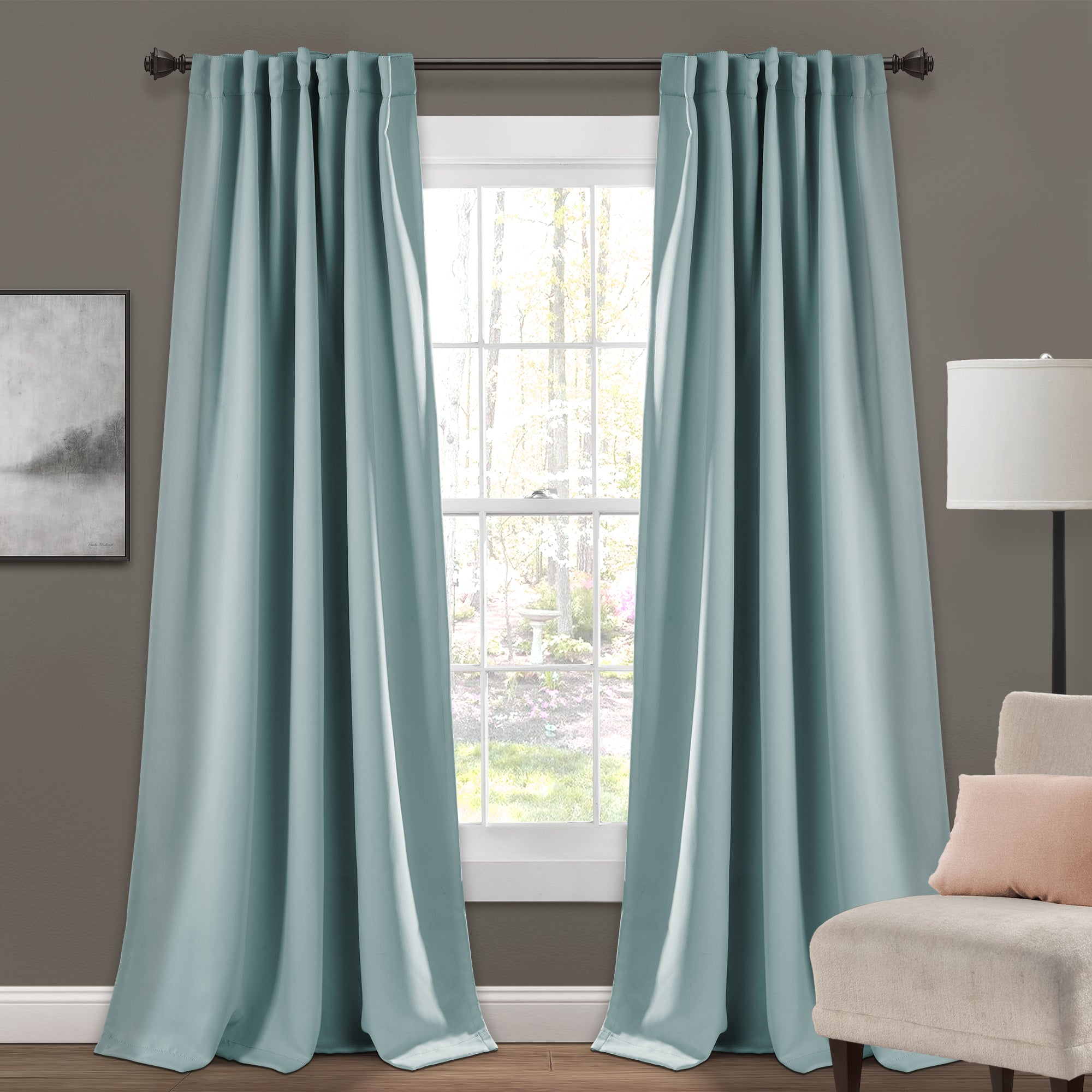 Insulated Back Tab Blackout Curtain Panel Set