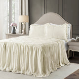Ravello Pintuck Ruffle Skirt Bedspread Set