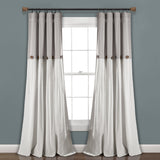 Linen Button Window Curtain Panel
