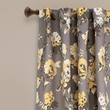 Tania Floral Room Darkening Window Curtain Panel Set