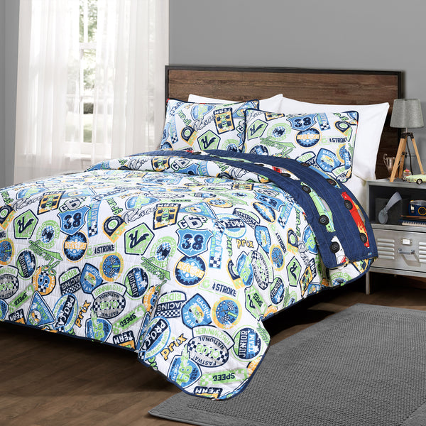 Race Cars Quilt 2 Piece Set