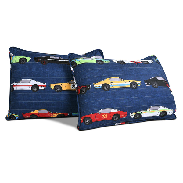 Race Cars Quilt 3 Piece Set Full/Queen Size