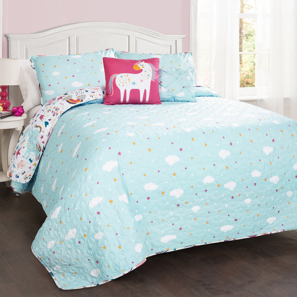 Unicorn Heart Quilt Set