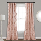 Avon Chenille Trellis Window Curtain Panel Set