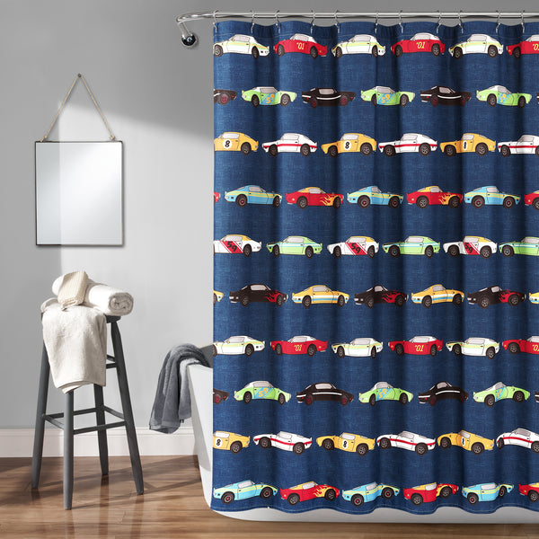 Race Cars Shower Curtain