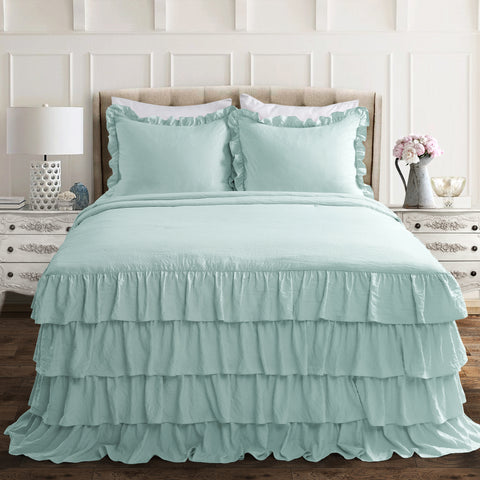 Allison Ruffle Ruffle Skirt Bedspread Set