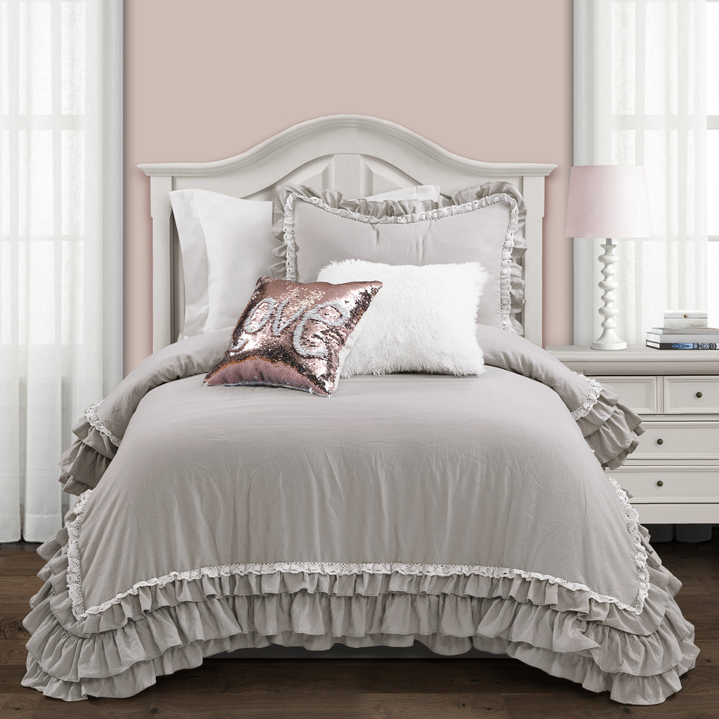 Surprising Ella Shabby Chic Ruffle Lace Comforter Set Back To Campus Dorm Room Bedding Download Free Architecture Designs Intelgarnamadebymaigaardcom