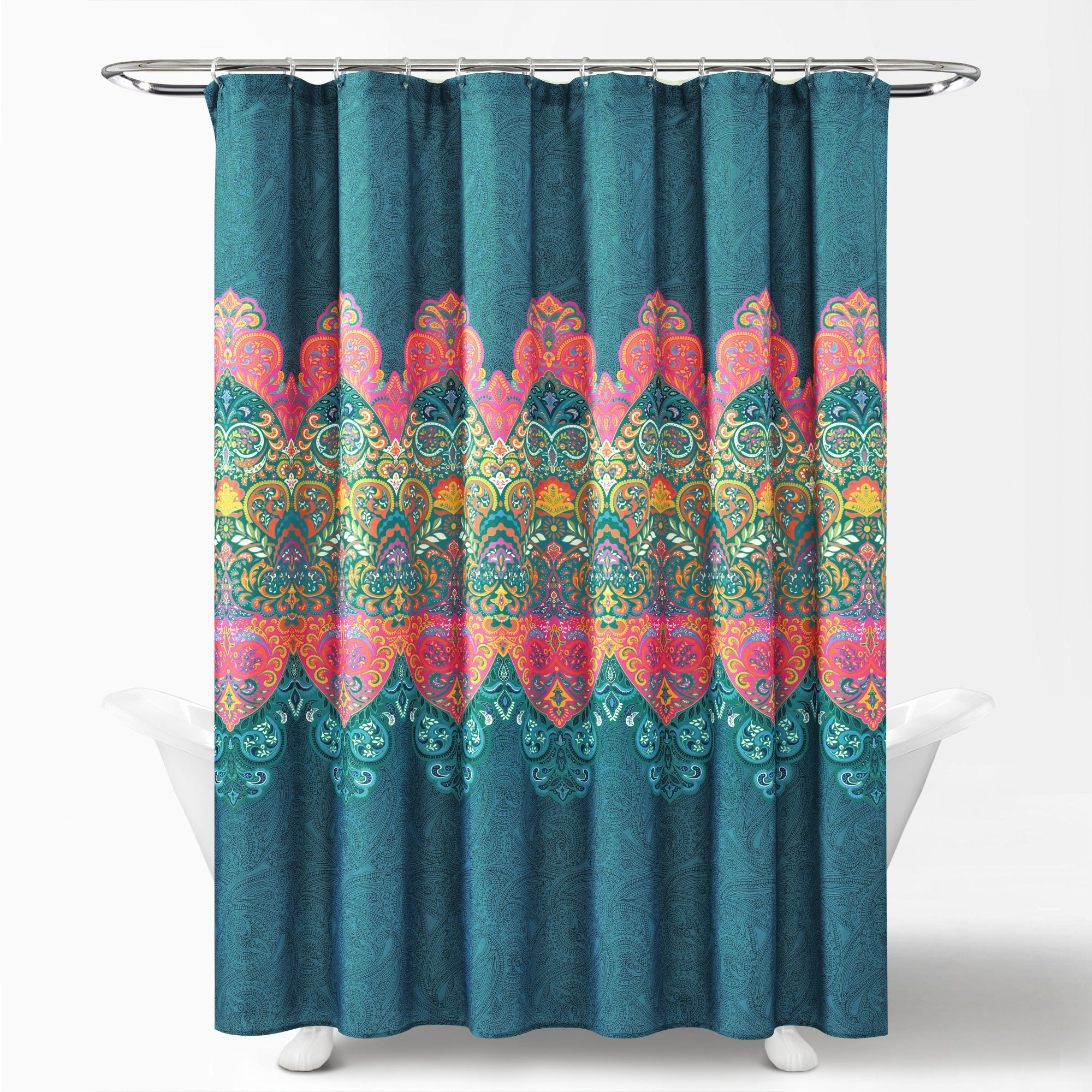71 Boho Floral Shower Curtain Bohemian Blossom Flower Bathroom Accessory Sets