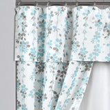 Weeping Flora Double Swag Shower Curtain 16 Piece Complete Set