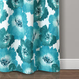 Julie Floral Insulated Grommet Blackout Window Curtain Panel Set