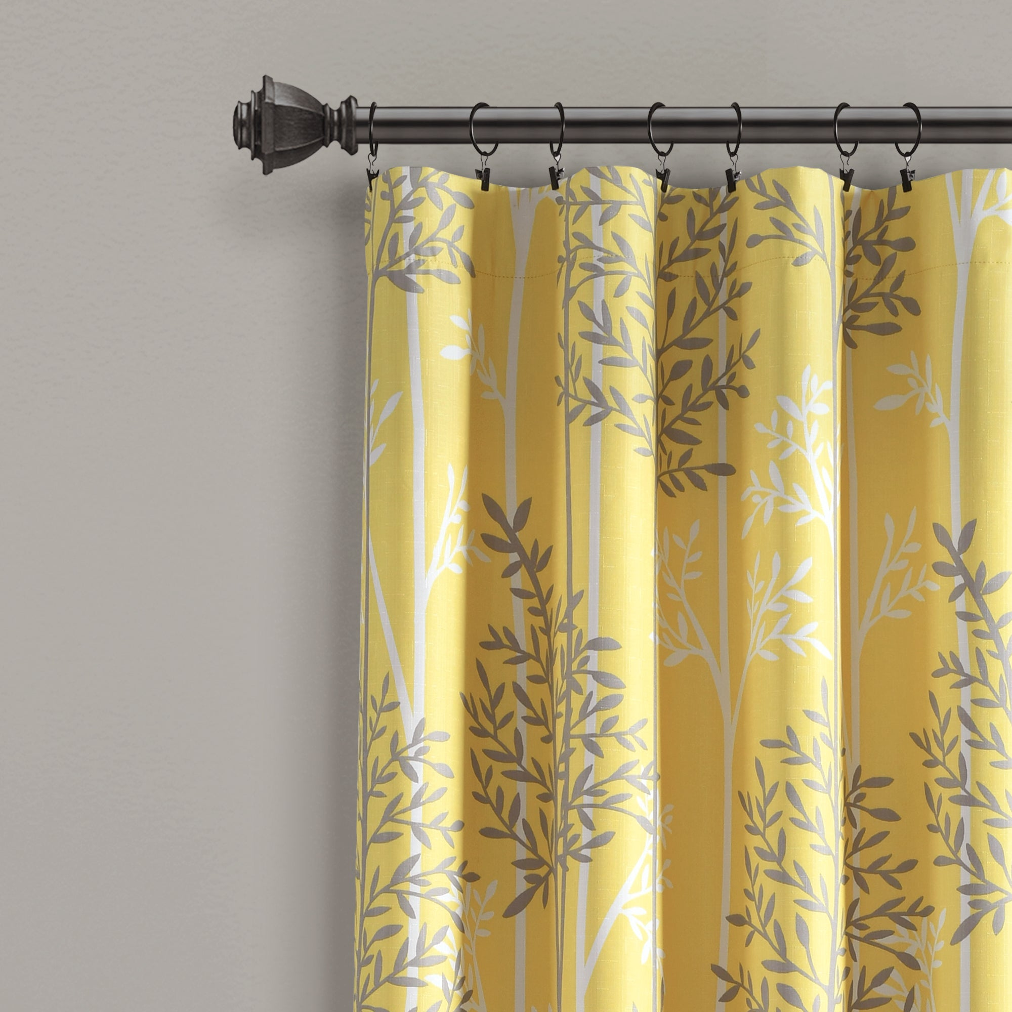 Linear Tree Insulated Rod Pocket Blackout Curtain Panel Set