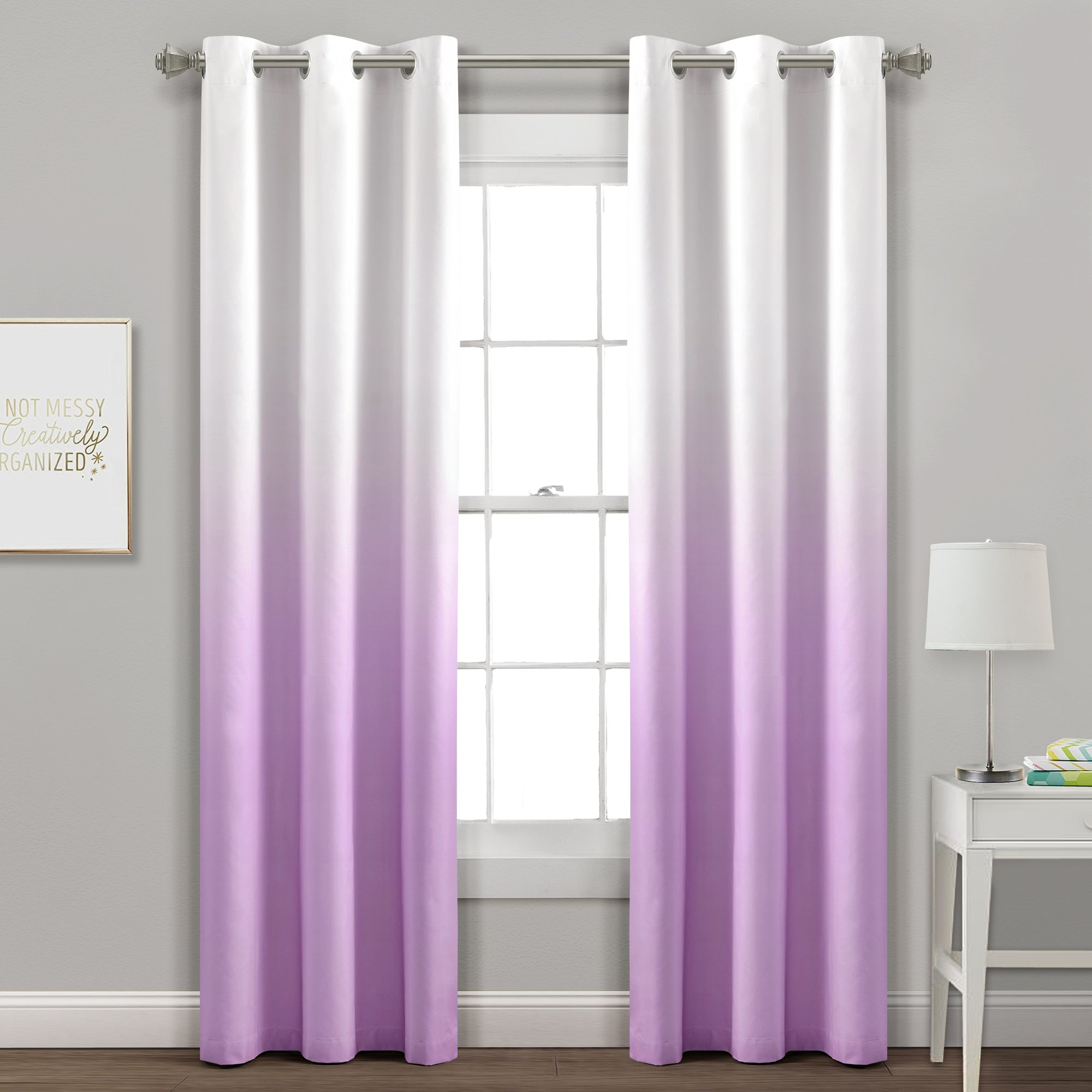 Mia Ombre Insulated Grommet Blackout Curtain Panel Set