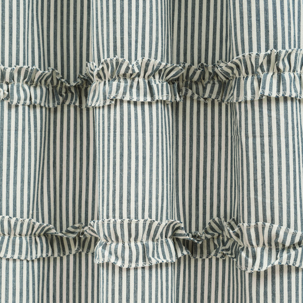 Vintage Stripe Yarn Dyed Cotton Window Curtain Panel Set