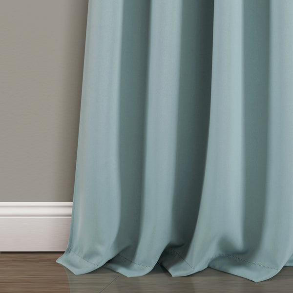 Insulated Knotted Tab Top Blackout Window Curtain Panel Set