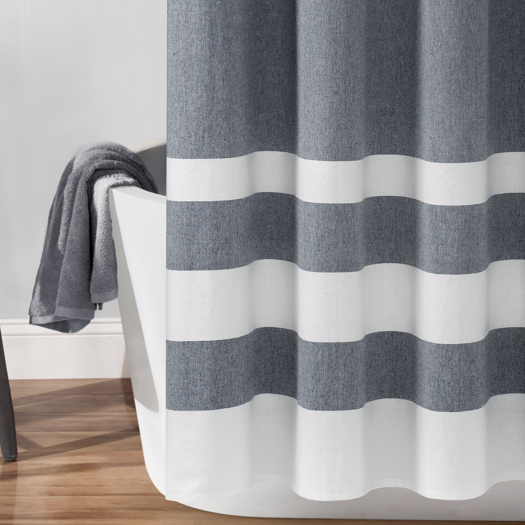 Cape Cod Stripe Yarn Dyed Cotton Shower Curtain