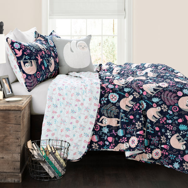 Hygge Sloth Quilt Set