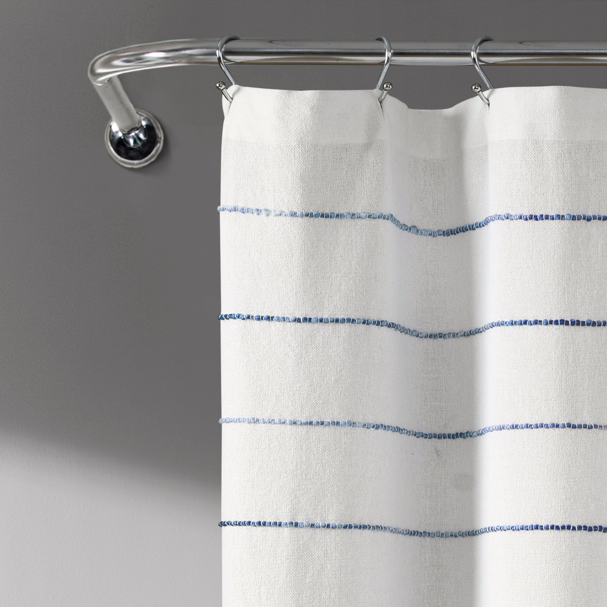 Ombre Stripe Yarn Dyed Cotton Shower Curtain