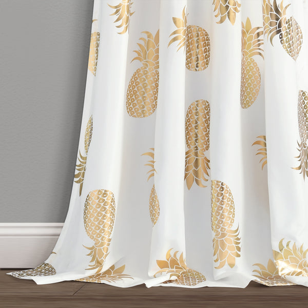 Pineapple Toss Window Curtain Panel Set