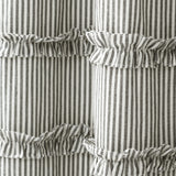 Vintage Stripe Yarn Dyed Cotton Shower Curtain