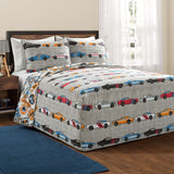 Race Cars Bedspread Set