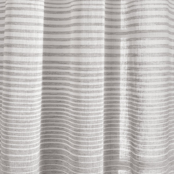 Ombre Stripe Grommet Sheer Window Curtain Panel Set