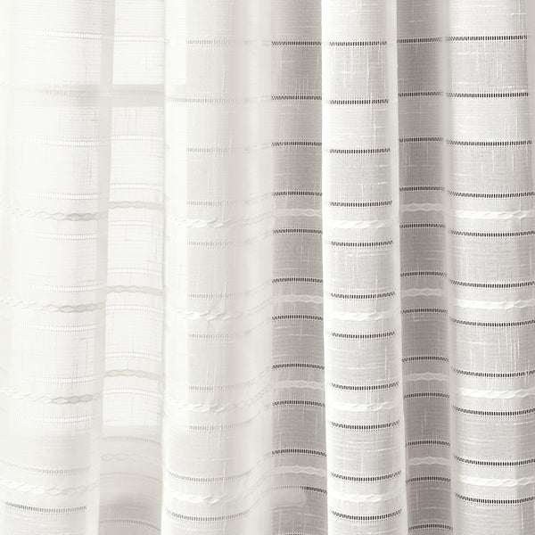 Bridie Grommet Sheer Window Curtain Panel Set