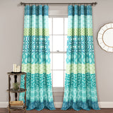 Bohemian Stripe Window Curtain Panel Set