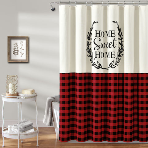 Home Sweet Home Wreath Shower Curtain