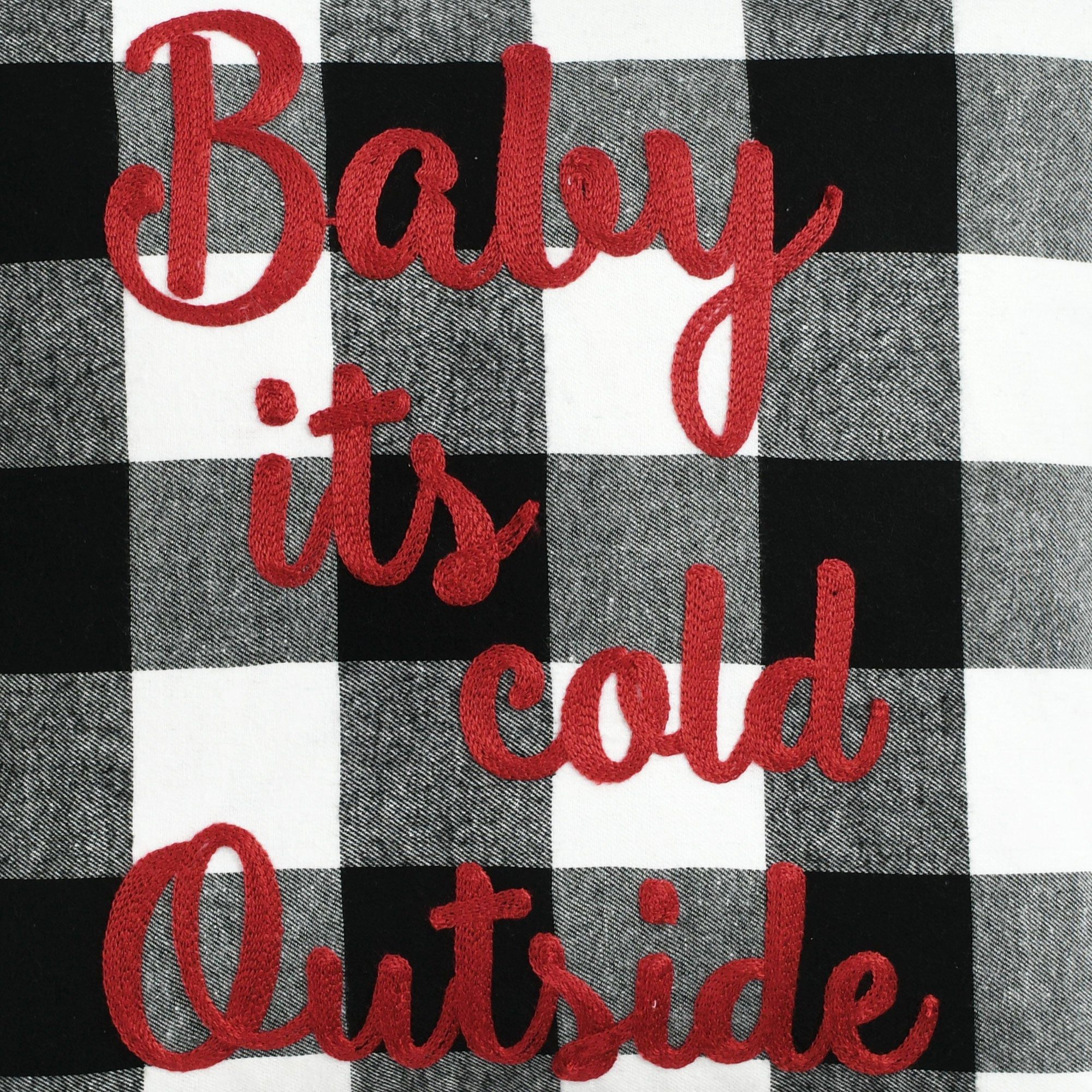 Baby Its Cold Outside Buffalo Check Decorative Pillow
