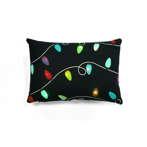 Christmas Light LED Decorative Pillow