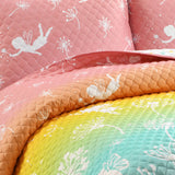 Make A Wish Dandelion Fairy Ombre Quilt Set