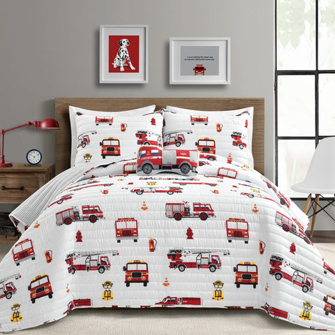 Make A Wish Fire Truck Quilt Set