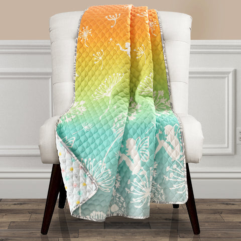 Make A Wish Dandelion Fairy Ombre Throw