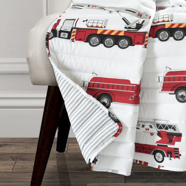 Make A Wish Fire Truck Throw