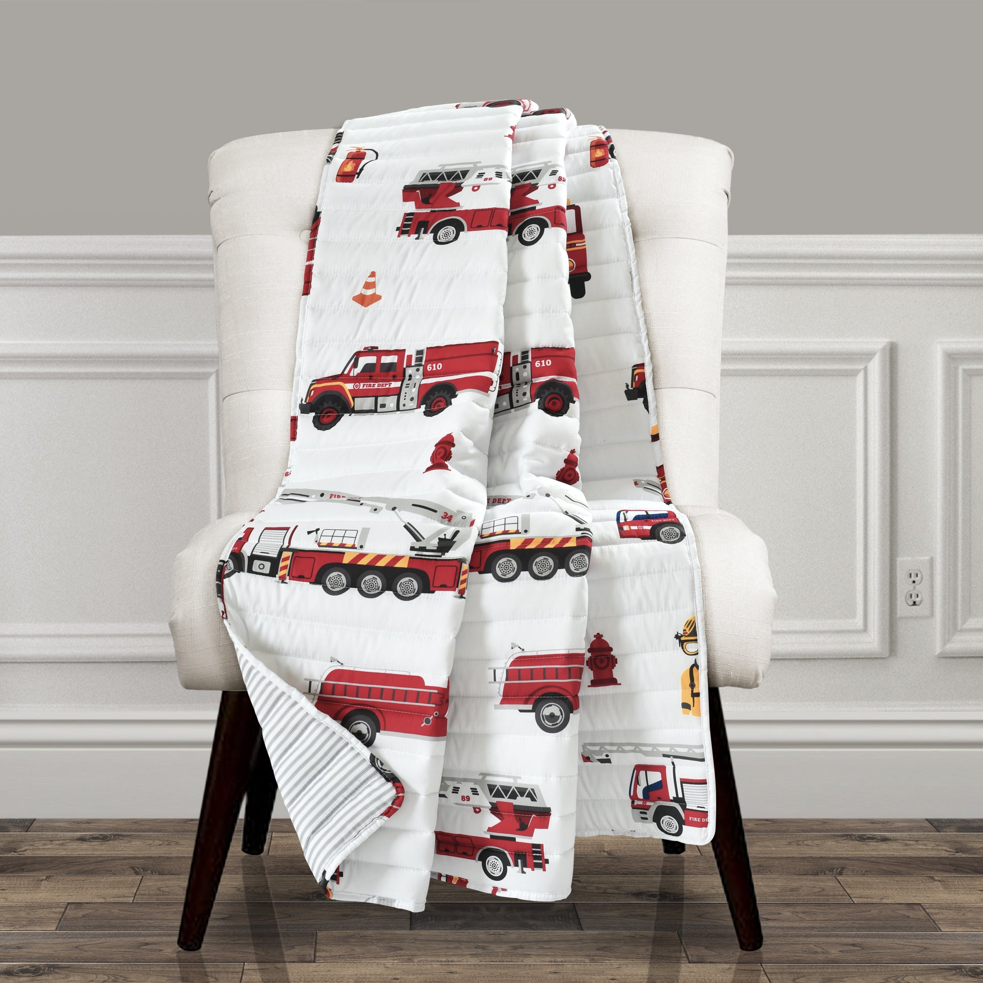 Make-A-Wish Fire Truck Throw