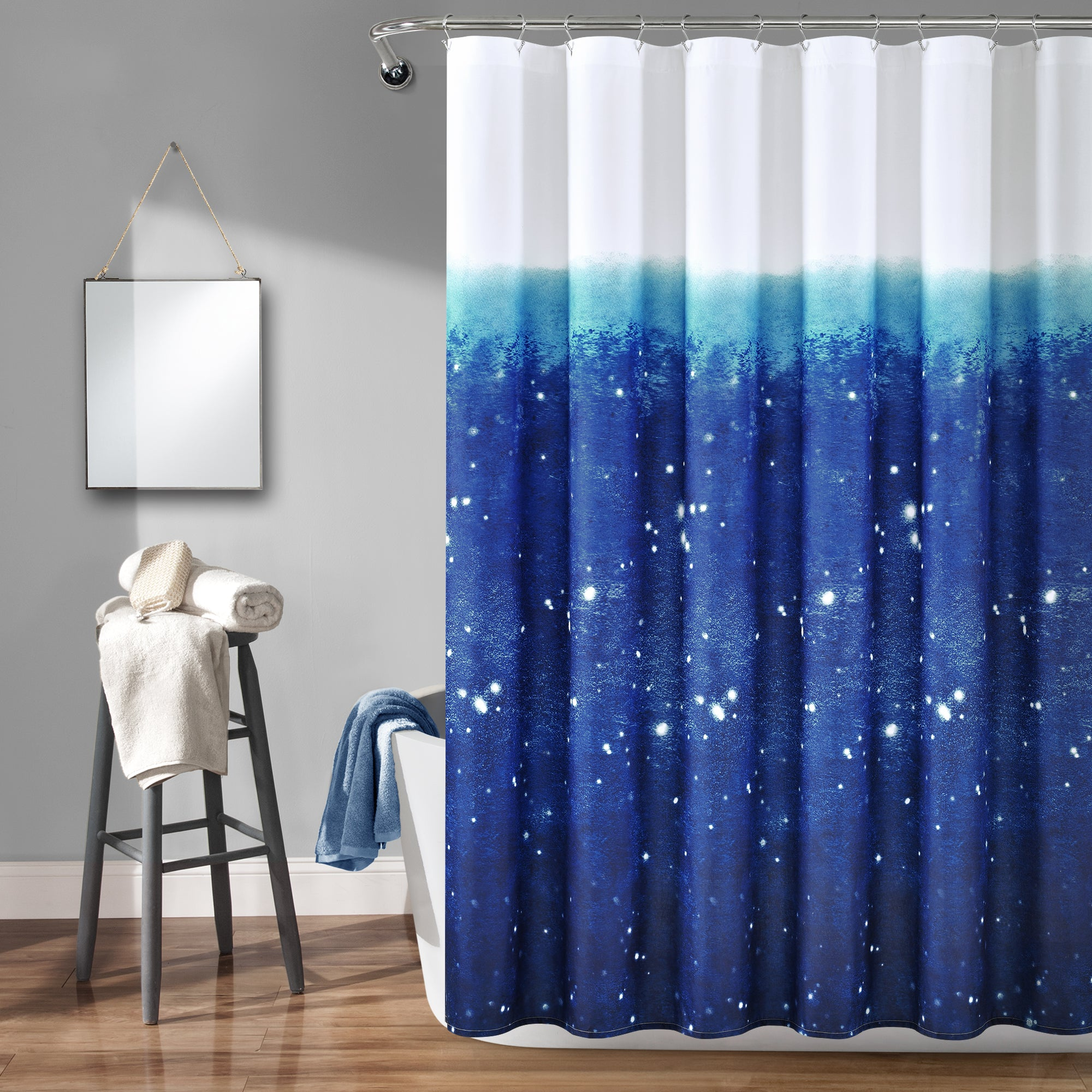 Make-A-Wish Space Star Ombre Shower Curtain