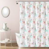 Make A Wish Southwest Llama Cactus Shower Curtain