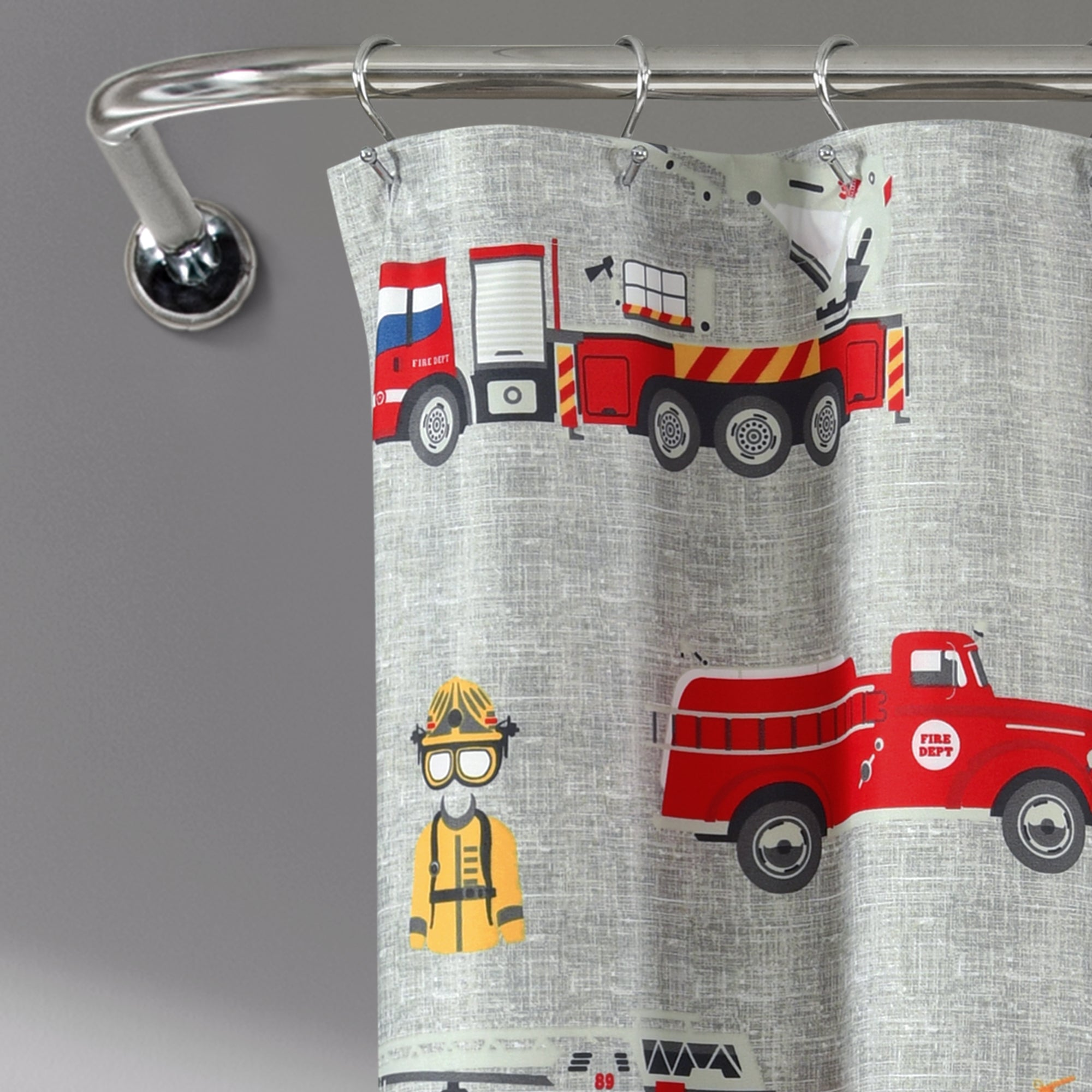 Make-A-Wish Fire Truck Shower Curtain